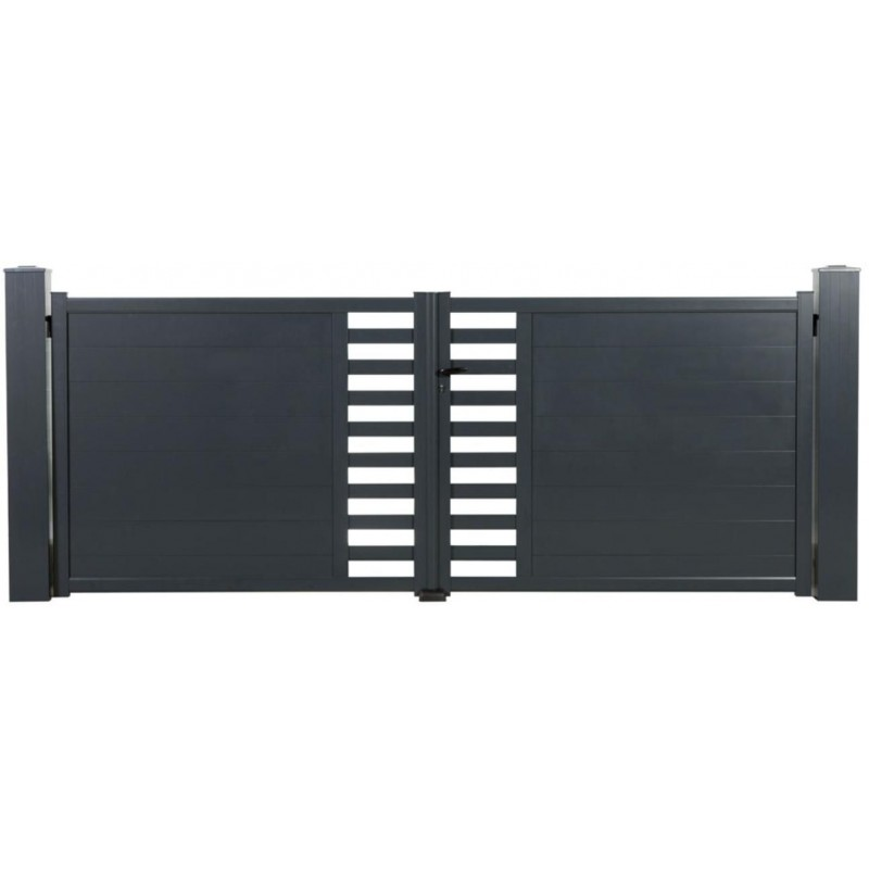 Portail Aluminium pivotant TOPAZE - Passage 3000 mm