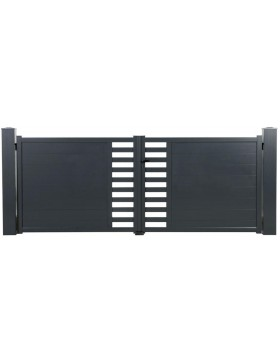 Portail Aluminium pivotant TOPAZE - Passage 3250 mm