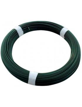 Fil de tension plastifié vert - Fil 2,40 mm - 100 mètres