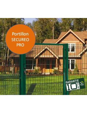 Portillon grillagé SECUREO PRO Larg 1m00 x Ht 1m00