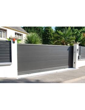 Portail Aluminium coulissant QUARTZ - Passage 3000 mm